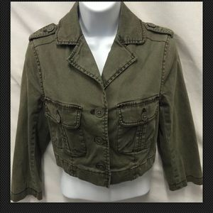 HEI HEI Anthropologie $118 Cropped Military Cargo
